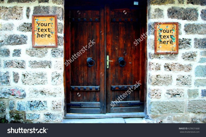 Stara vrata-Vaš tekst ovdje: -Koncept sa oglasom, background!